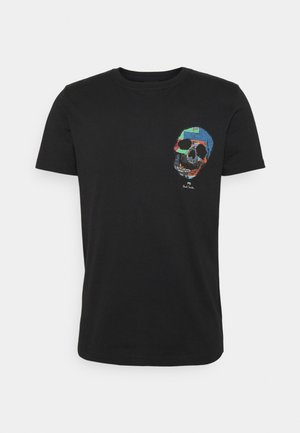 SLIM FIT TSHIRT SKULL - T-shirt imprimé - black