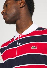 Lacoste - Polo shirt - rouge/marine naturel/clair blanc - 4
