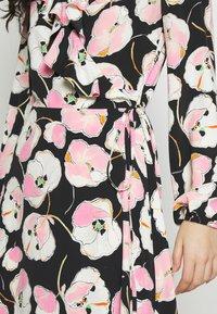 Wallis Tall - ABSTRACT POPPY FRILL MIDI - Day dress - black - 5