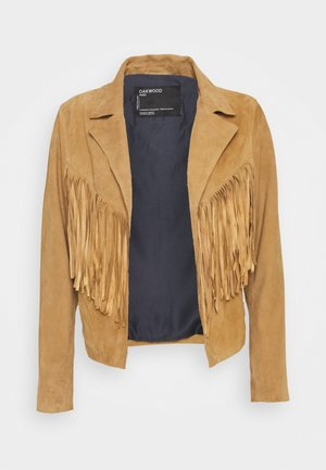 JANIS - Leather jacket - tan