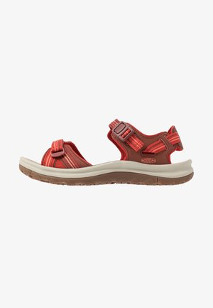 TERRADORA II  - Walking sandals - dark red/coral