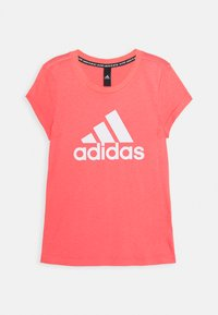 adidas Performance - TEE - T-shirt print - coral/white - 0