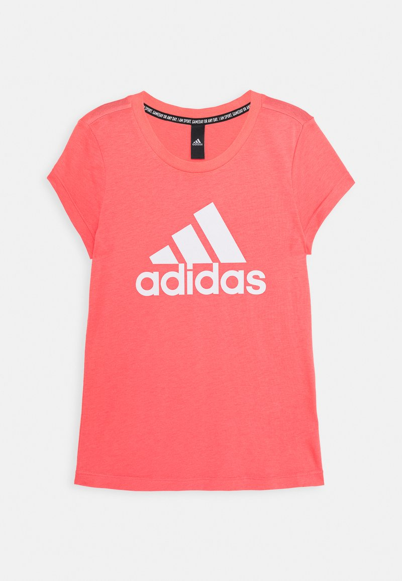 adidas Performance - TEE - T-shirt print - coral/white
