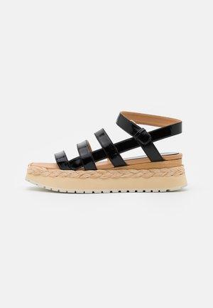 ABACAXIS - Korkeakorkoiset sandaalit - loryblack