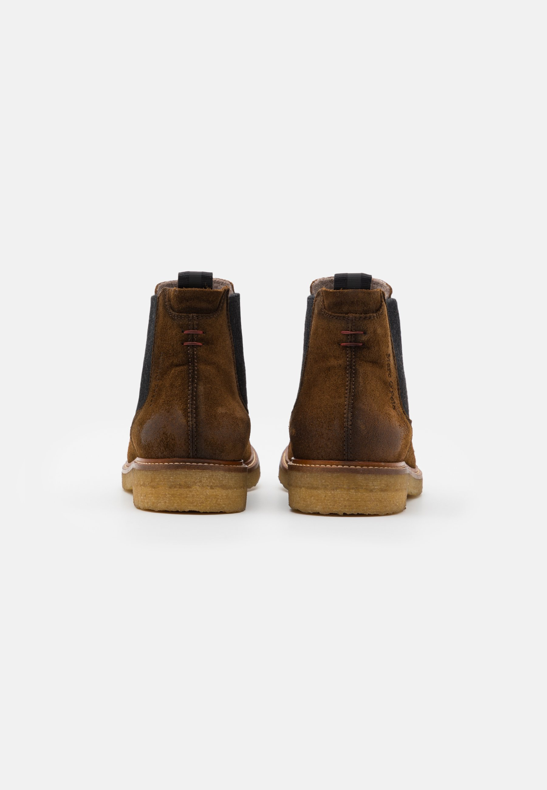 Meilleurs prix Marc O'Polo SUSTAINABLE CHELSEA BOOT Bottines walnut