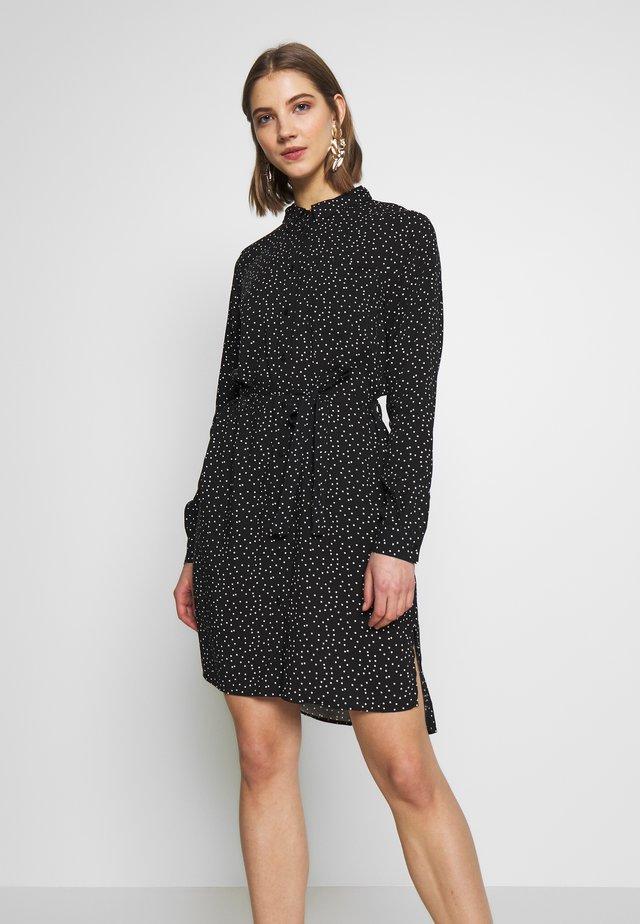 OBJKRISLA SHIRT DRESS - Shirt dress - black