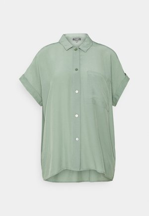 EASY FIT - Button-down blouse - dusty leave green