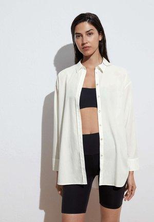 POPLIN  - Button-down blouse - white