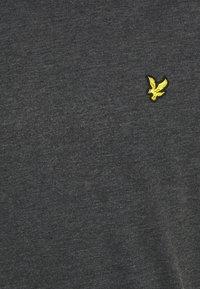 Lyle & Scott - MARLED - T-shirt - bas - jet black marl - 5