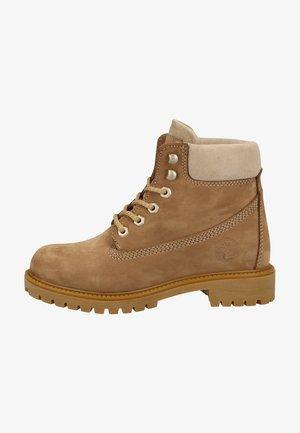 Platform ankle boots - sand