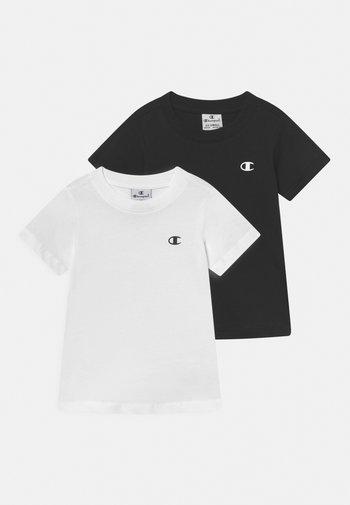 AMERICAN CLASSICS CREW NECK 2 PACK UNISEX - T-shirt basic - white/black