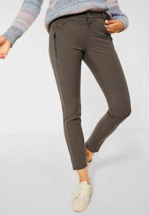 SLIM FIT - Trousers - braun