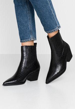 WIDE FIT ROCCO - Kovbojské/motorkářské boty - black