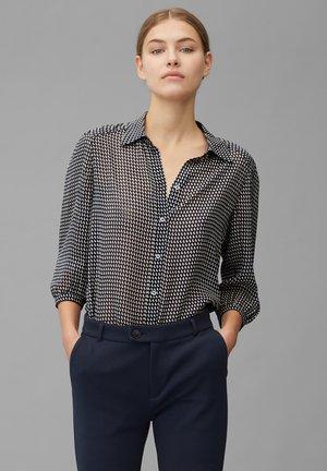 Button-down blouse - black, black