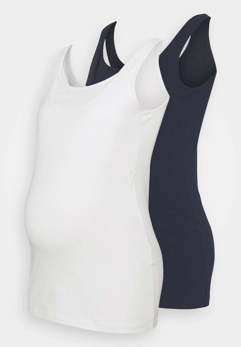 MAMALICIOUS - NURSING 2 PACK - Top - navy blazer/snow white