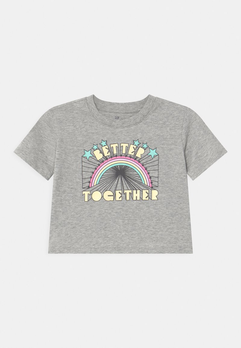 GAP - BOXY  - Print T-shirt - heather grey