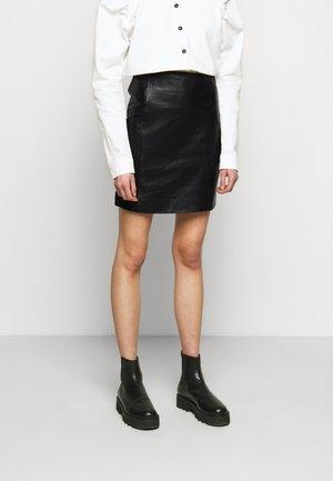 ELECTRA - Mini skirt - black