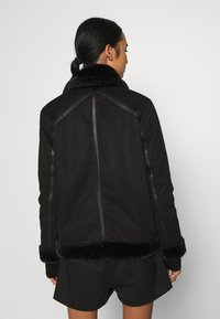ONLY - ONLJANICE BONDED AVIATOR  - Faux leather jacket - black - 2