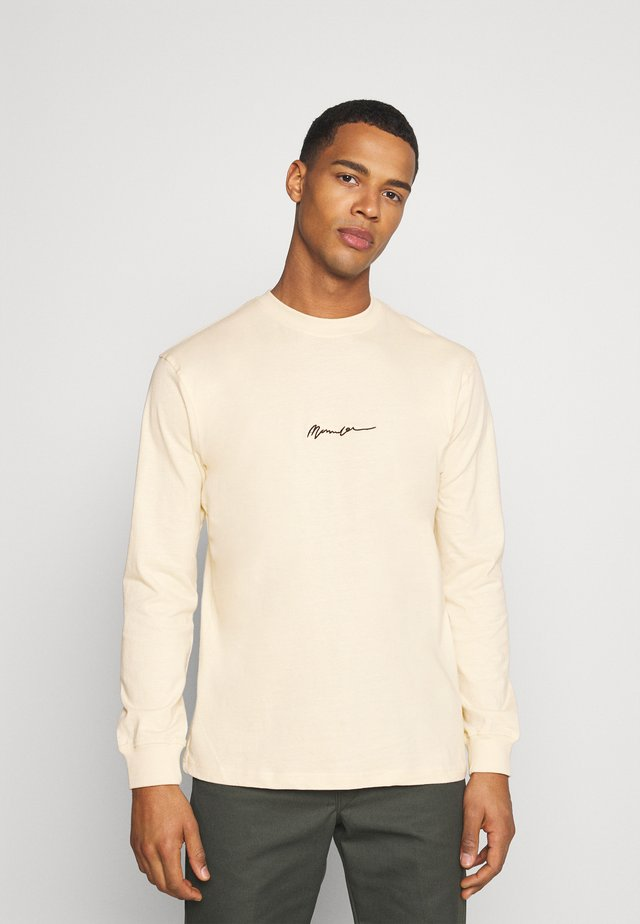 ESSENTIAL SIGNATURE UNISEX - T-shirt à manches longues - sand