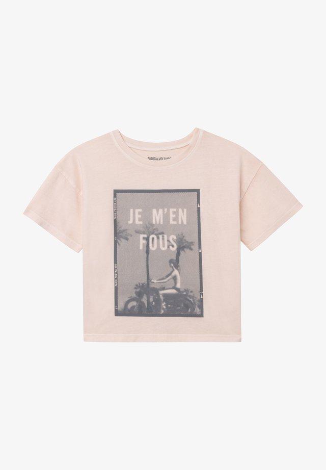 SHORT SLEEVES - T-shirt print - faded pink