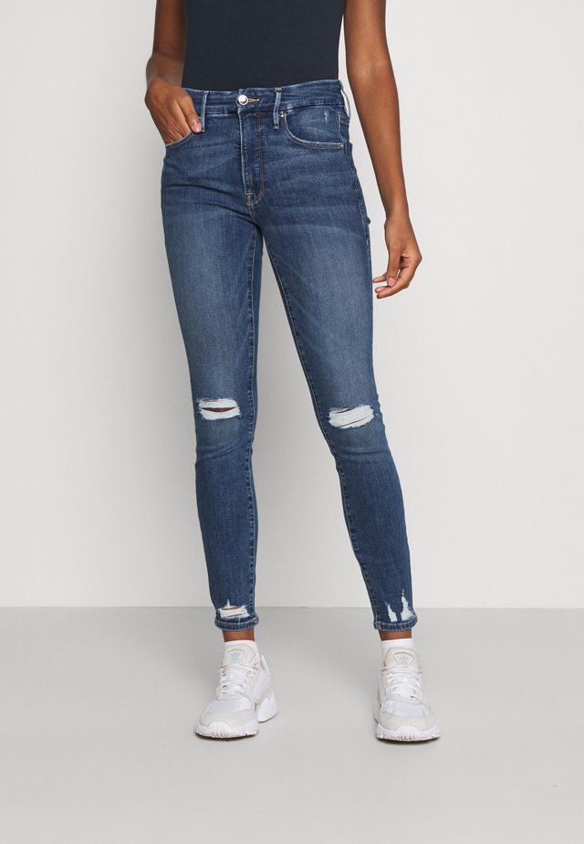 LEGS CHEW AND POCKETS - Jeans Skinny Fit - blue