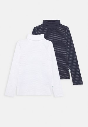 KIDS ROLLNECK 2 PACK - Long sleeved top - weiss/nachtblau