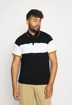 NEWARK ZIP NECK - Poloshirt - black