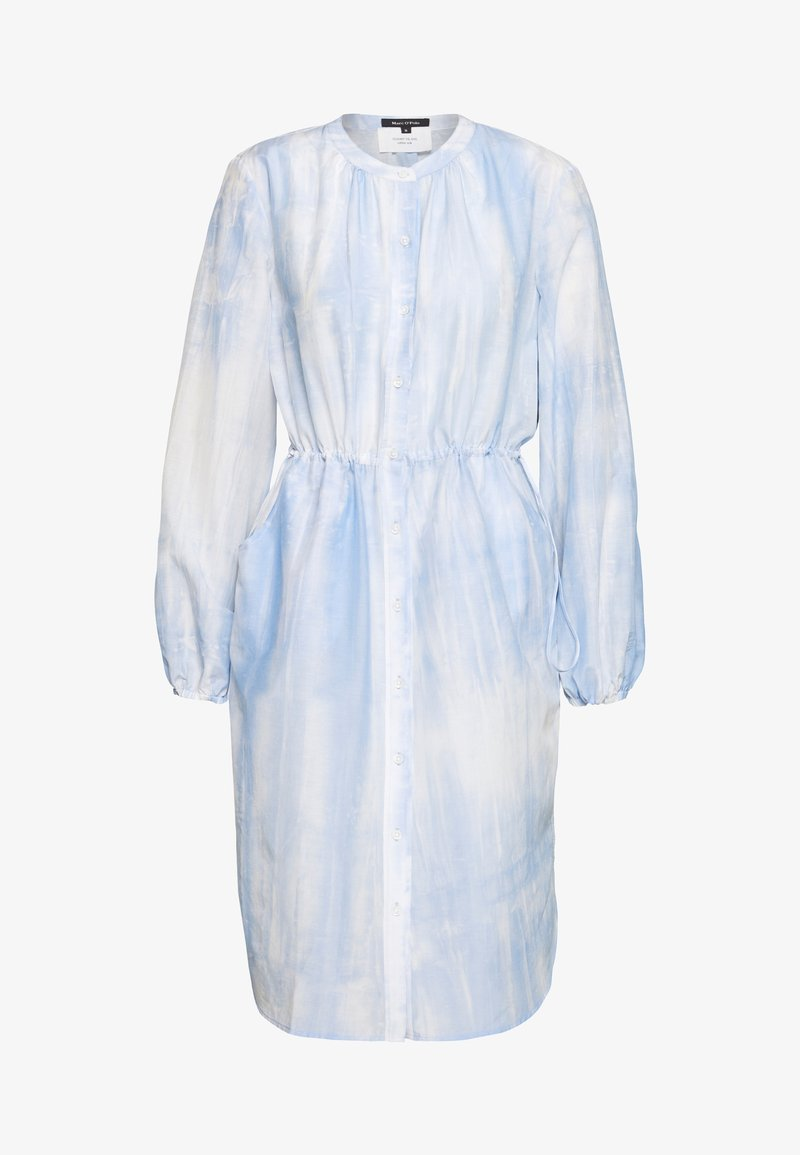 Marc O'Polo - DRESS STYLE DRAWSTRING ROUND HEMLIINE TIE DYE - Blousejurk - sky breeze