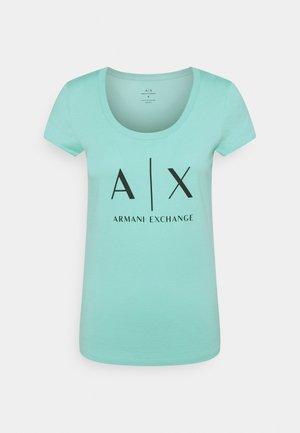 Camiseta estampada - light aqua