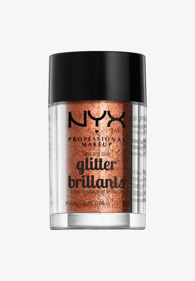 Nyx Professional Makeup - FACE & BODY GLITTER - Glitter & jewels - 4 copper