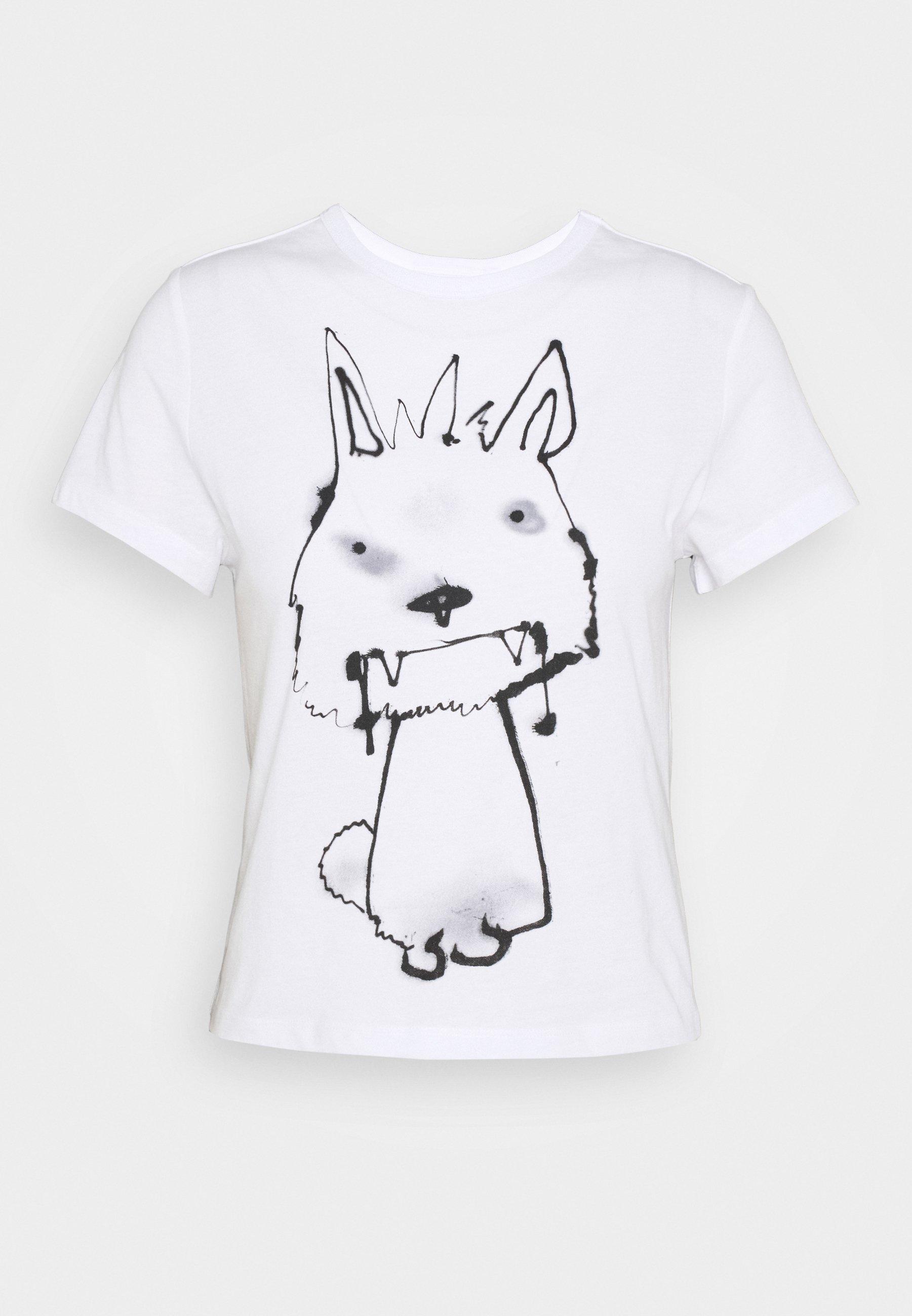 Weekday Forever - T-shirts Med Print Thirsty Dog/hvit