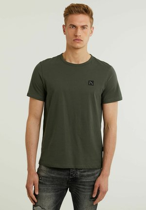 BRETT - Basic T-shirt - green