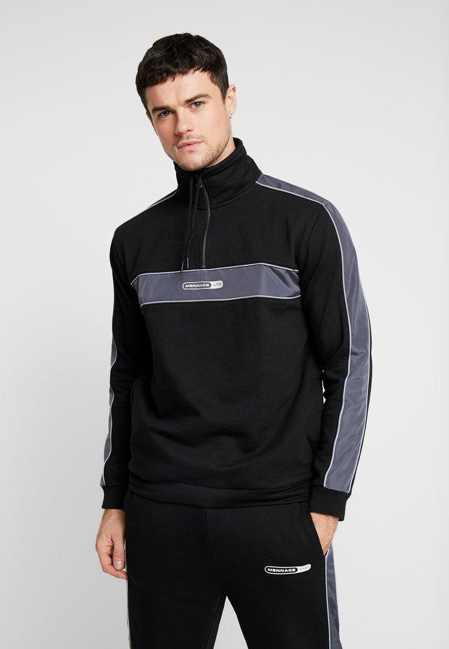 PANEL ZIP  - Sweatshirt - black