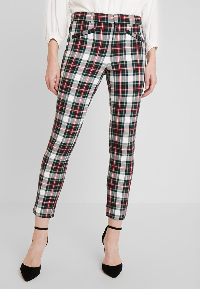 ANKLE ZIPPER HOLIDAY - Trousers - tartan