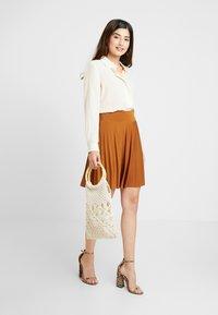 Anna Field Petite - A-line skirt - brown - 1