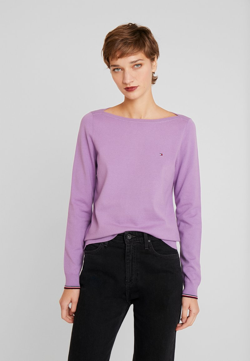 Tommy Hilfiger - BOAT NECK  - Sweter - dusty lilac