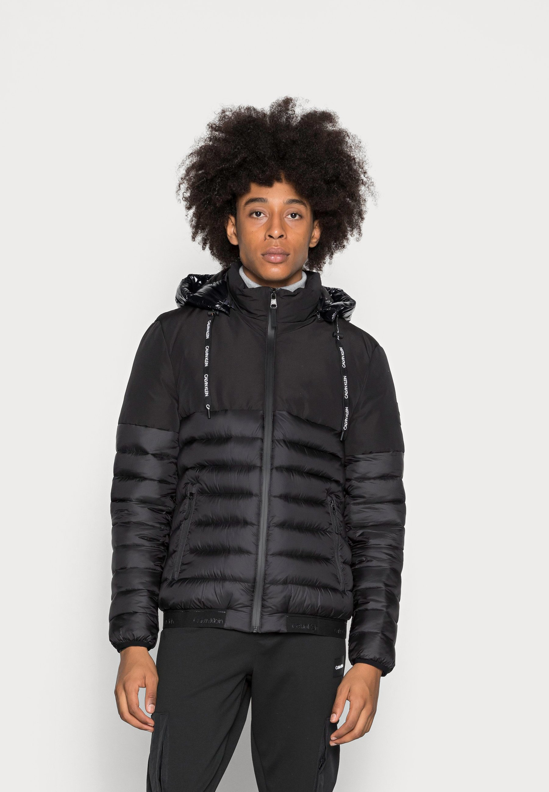 Men SOFT SHELL MIX QUILT JACKET - Light jacket