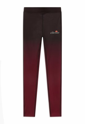 MEDITI PERFORMANCE LEGGING - Leggings - black/burgundy