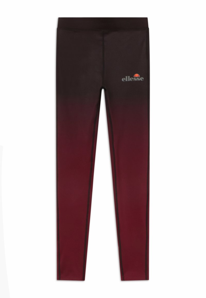 Ellesse - MEDITI PERFORMANCE LEGGING - Legging - black/burgundy
