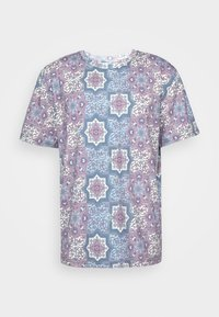 SUBLIMATION UNISEX - Print T-shirt - maroon/blue