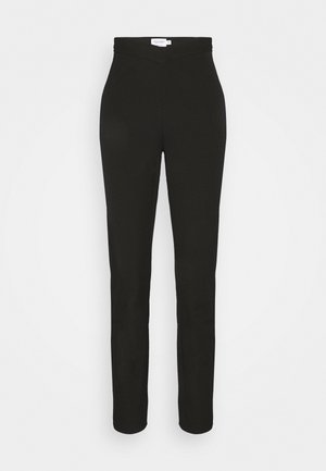 MATHILDE GØHLER V SHAPED WAIST STRAIGHT PANTS - Trousers - black