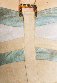 Jaded London - PANELLED LONGLINE HALTER CORSET VINTAGE MARBLE PRINT MIX - Topper - brown/beige - 5