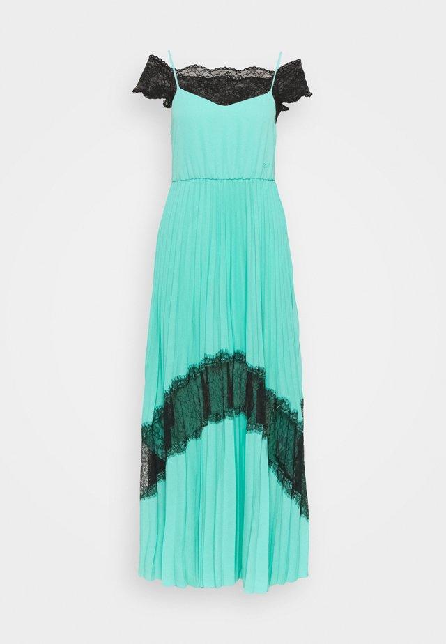 2 in 1 PLEATED DRESS - Maxi-jurk - aqua marine