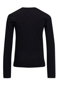 WE Fashion - MET OVERSLAGDETAIL - Camiseta de manga larga - black - 3