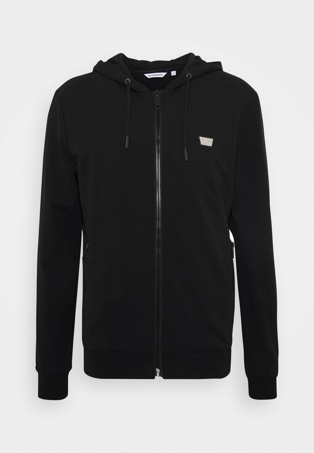 HOODIE SLIM FIT - Sweatjakke /Træningstrøjer - black