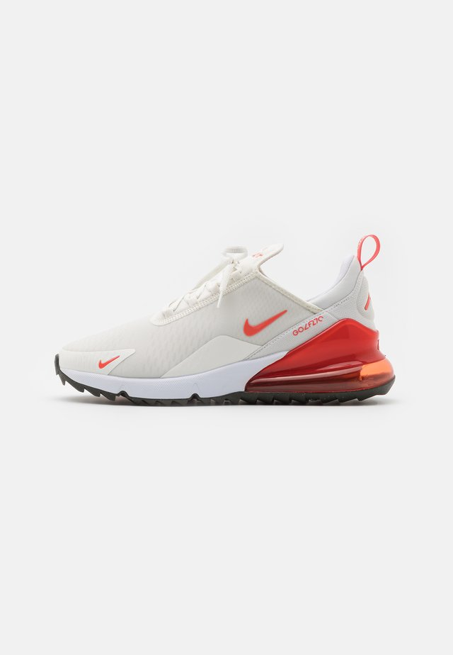 NIKE AIR MAX 270G - Golf shoes - sail/magic ember/white/newsprint