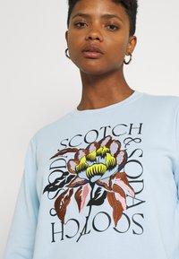Scotch & Soda - REGULAR CREWNECK WITH EMBROIDERY - Sweatshirt - sky blue - 5