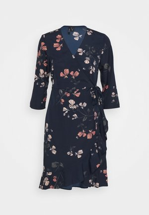 VMHENNA WRAP DRESS - Vardagsklänning - night sky/hallie