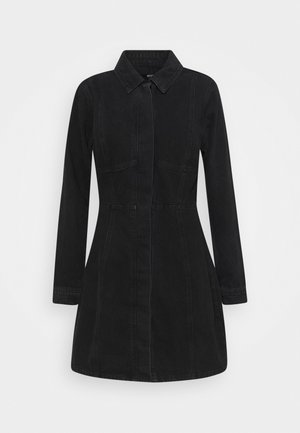 SEAM DETAIL DRESS - Dongerikjole - wash black