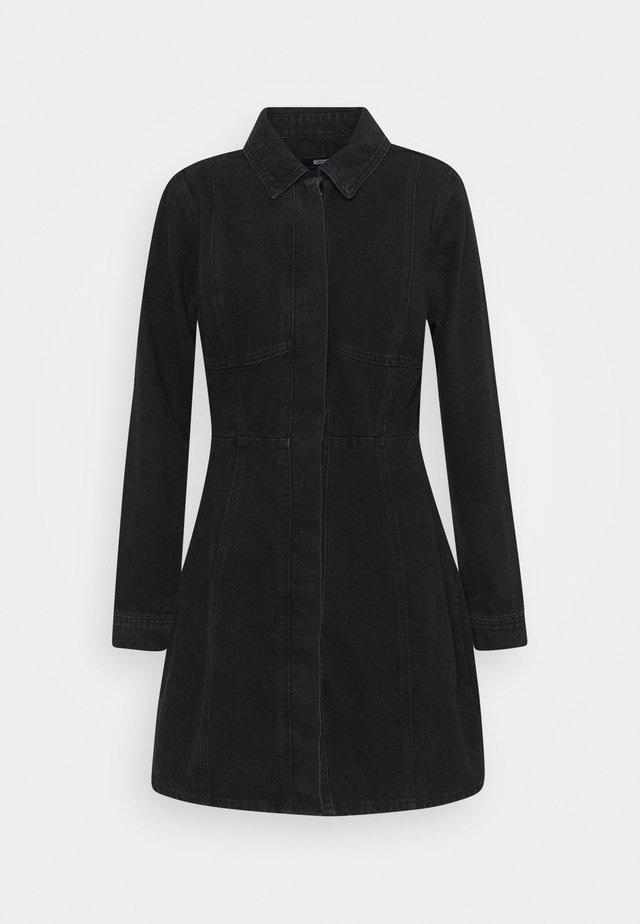SEAM DETAIL DRESS - Denimové šaty - wash black